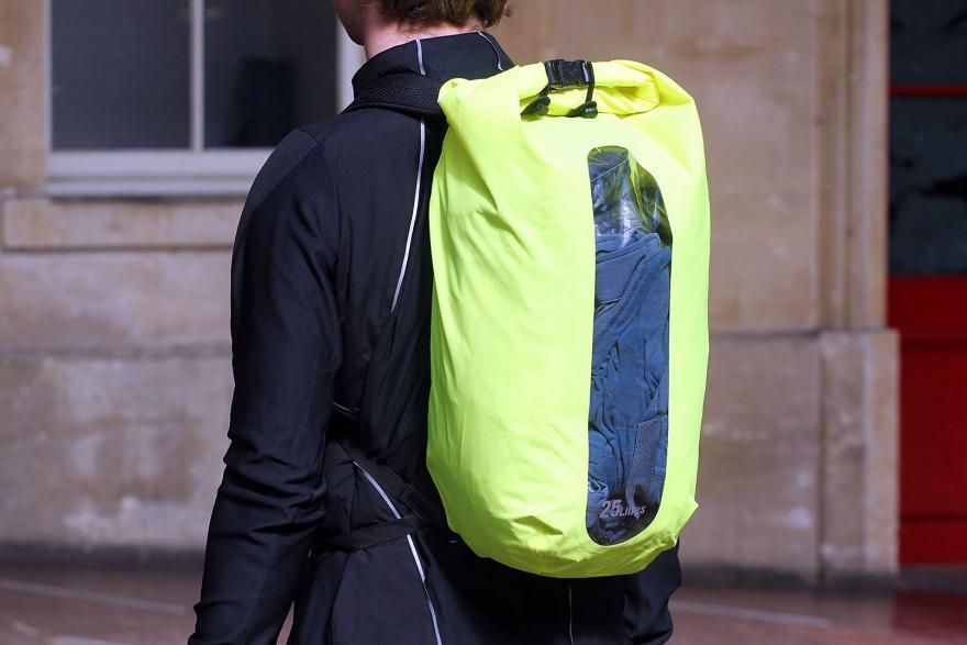 AlpKit Gourdon 25 drybag rucksack - worn.jpg