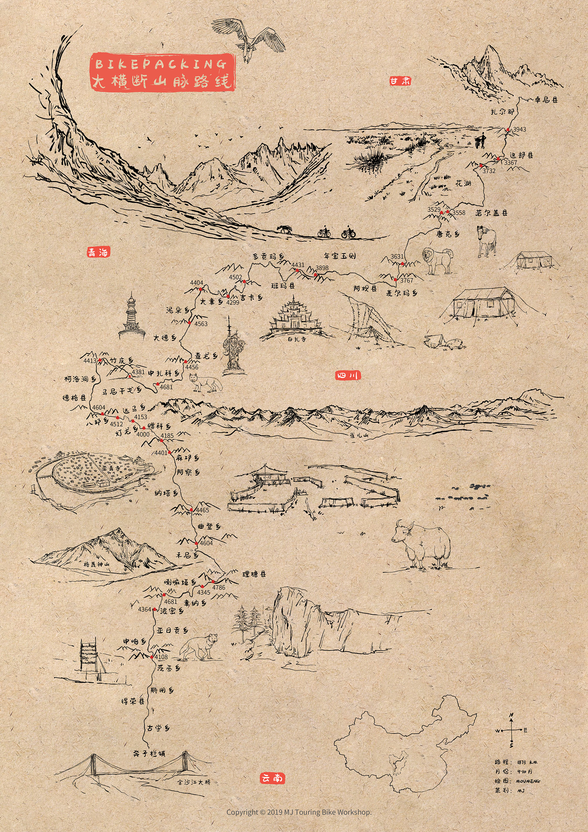 粗略手绘地图